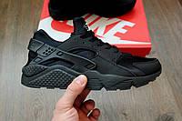 Кроссовки Nike Air Huarache черные (найк хуарачи, хуараш)