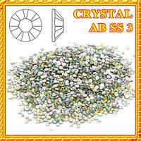 Набор Камни  Swarovski 50 шт. CRYSTAL  AB  SS 3 (Бензин) камни камешки сваровски
