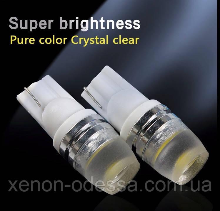 Cветодиод T10 COB LED матовый (габаритные огни)