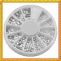 Камни стразы белые разного размера качество LUX, в Каруселях