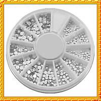 Камни стразы белые разного размера качество LUX, в каруселях .