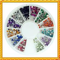 Камни Стразы в Каруселях разных размеров и цветов. Код 996/997, 1417, 1419