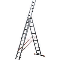 Лестница алюминиевая трехсекционная STS 3х9
