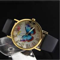 Женские часы с черным ремешком Butterfly (90)