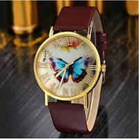 Женские часы с ремешком коричневого цвета Butterfly (196)