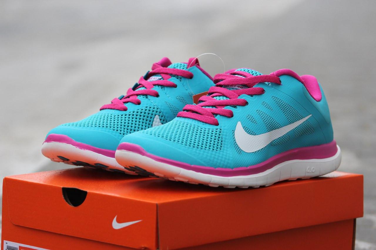 Женские кроссовки Nike Free Run 4.0 голубые 37р