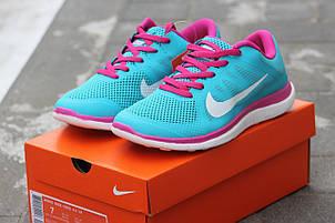Женские кроссовки Nike Free Run 4.0 голубые 37р, фото 2