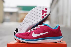 Женские кроссовки Nike Free Run 4.0 текстиль,розовые, фото 2