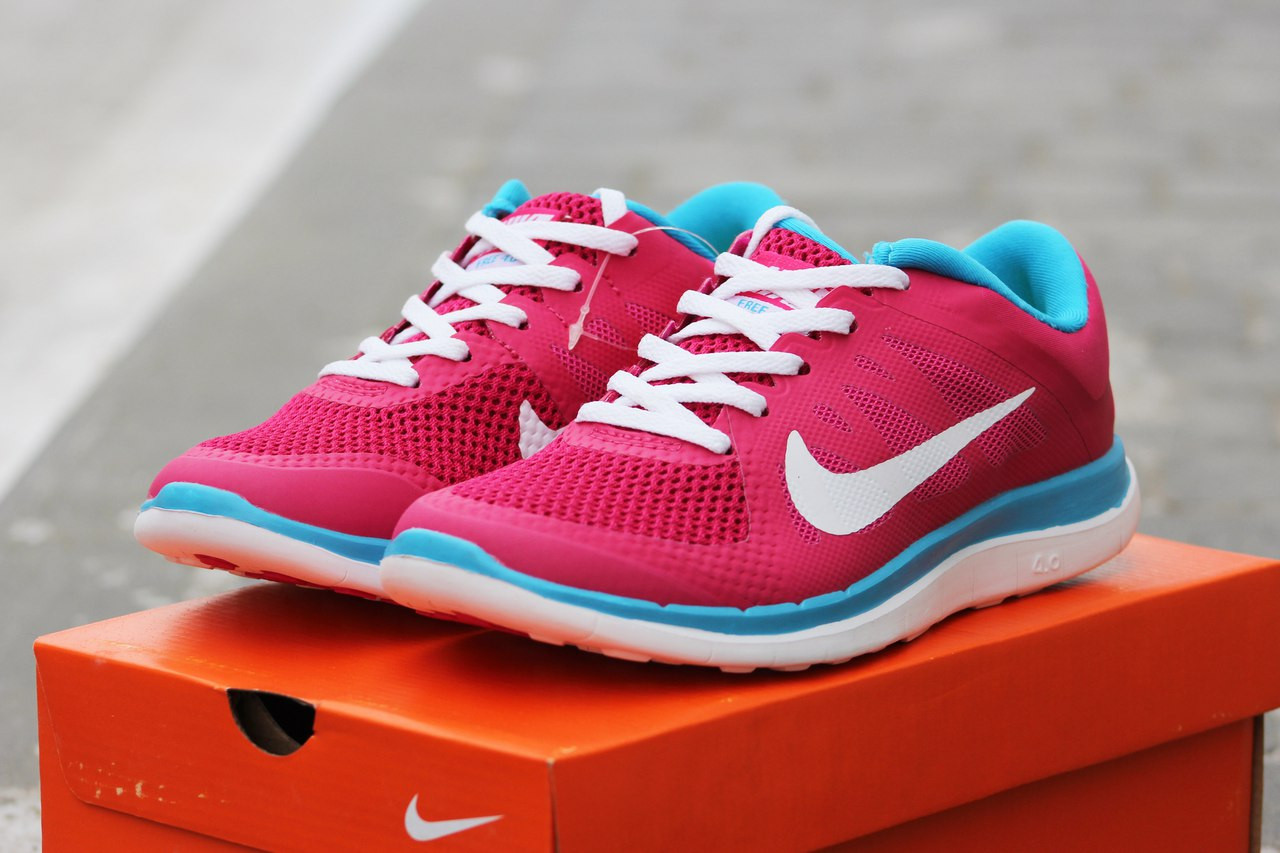 71757c54 Женские кроссовки Nike Free Run 4.0 текстиль,розовые - Интернет-магазин Дом  Обуви в