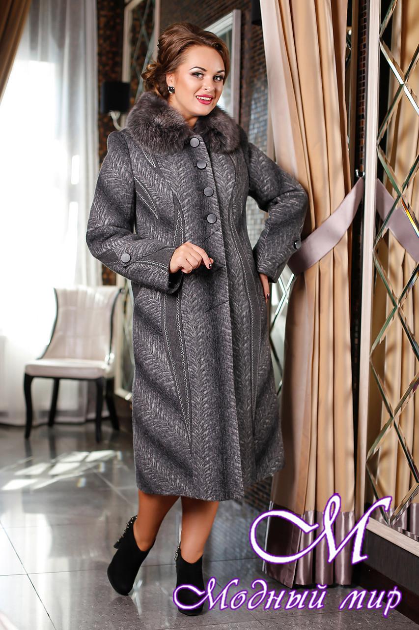 Красивое женское зимнее пальто (р. 48-62) арт. 727 Карра+Unito Тон 108 - Модный мир в Житомире
