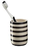 Стакан для зубных щеток полосатый (керамика)
