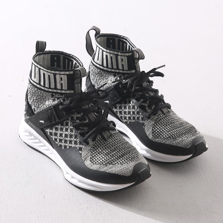 Мужские кроссовки Puma Ignite evoKnit black-white  купить в ... ba36d25c24f
