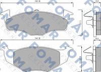 Комплект тормозных колодок FOMAR Friction  FO 682581