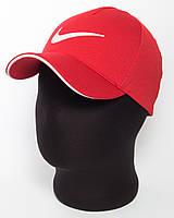 """Красная бейсболка с эмблемой """"Nike"""" с белым кантом (лакоста пятиклинка)"""