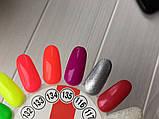 Гель-лак My Nail №134 (неоновий рожево-кораловий) 9 мл, фото 3