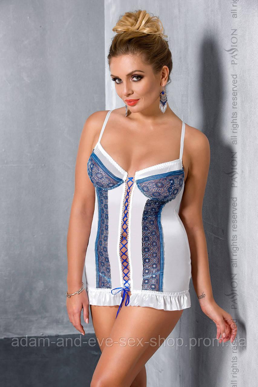 Эротическая сорочка платье Passion ELENI CHEMISE 4XL\5XL