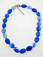 Бусы Голубой агат 42 см. украшения из натуральных и искусственных камней № 036504