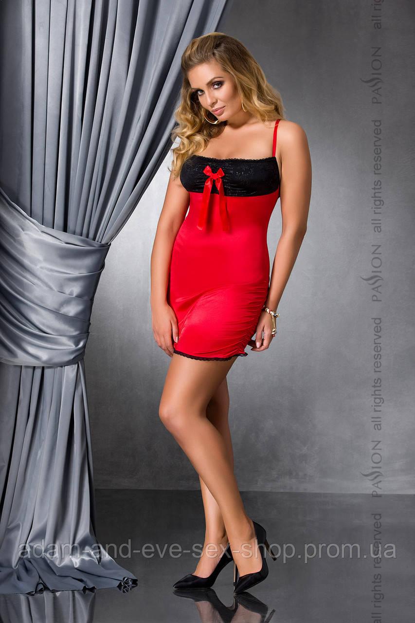 Красная сорочка большого размера Passion LENA CHEMISE 6XL\7XL