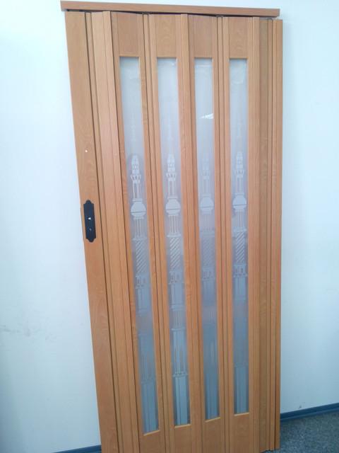Двері розсувні засклені пластикова 860х2030х12мм