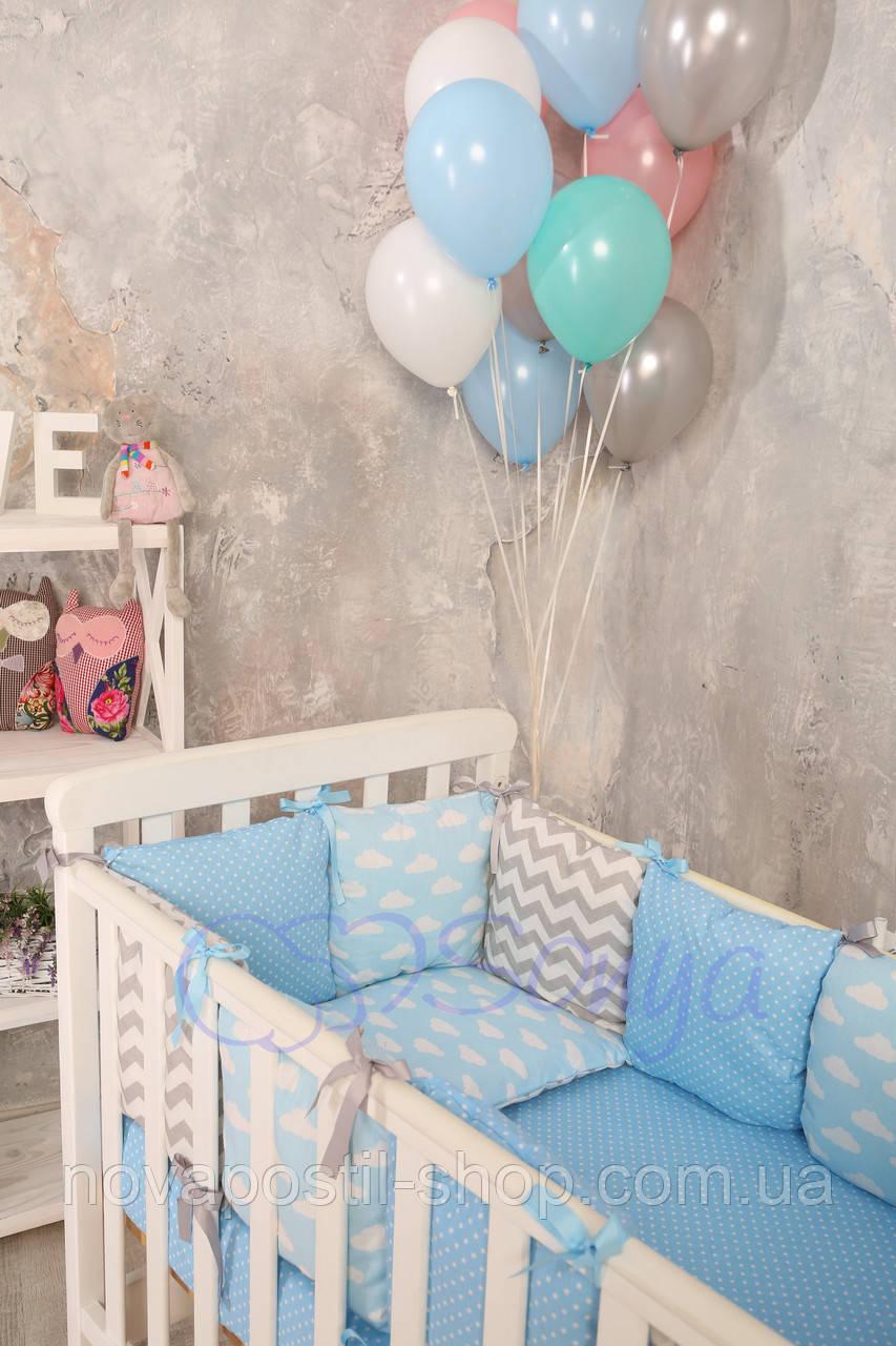Набор в детскую кроватку Baby Design облака (6 предметов)