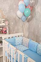 Набор в детскую кроватку Baby Design облака (6 предметов), фото 1
