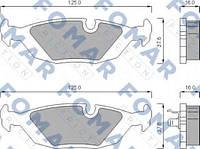 Комплект тормозных колодок FOMAR Friction 438181