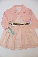 Платье с болеро розовое