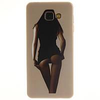 Чехол бампер силиконовый для Samsung Galaxy J7 Prime G610 с картинкой девушка