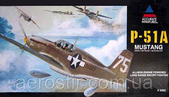 P-51A Mustang 1/48 Accurate miniatures 3402