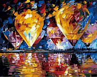 Картина по номерам - Воздушные шары над заливом