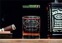 Іменний стакан для віскі «З Днем ВМФ»