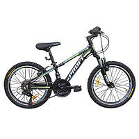 Велосипед 20 дюймов G20A315-L1-B черно-салатовый