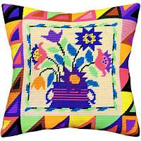 Набор для вышивки крестом Чарівниця V-19 Подушка Букет в народном стиле