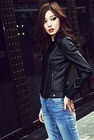 Женская кожаная куртка. Модель 2040, фото 2