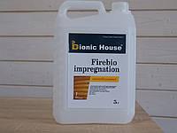 Огне защитная пропитка антиперен для дерева Bionic House 1-я группа эффективности ГОСТ 12.1.044-89 3л