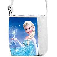 Белая сумочка для девочки с рисунком Ельза Холодное сердце