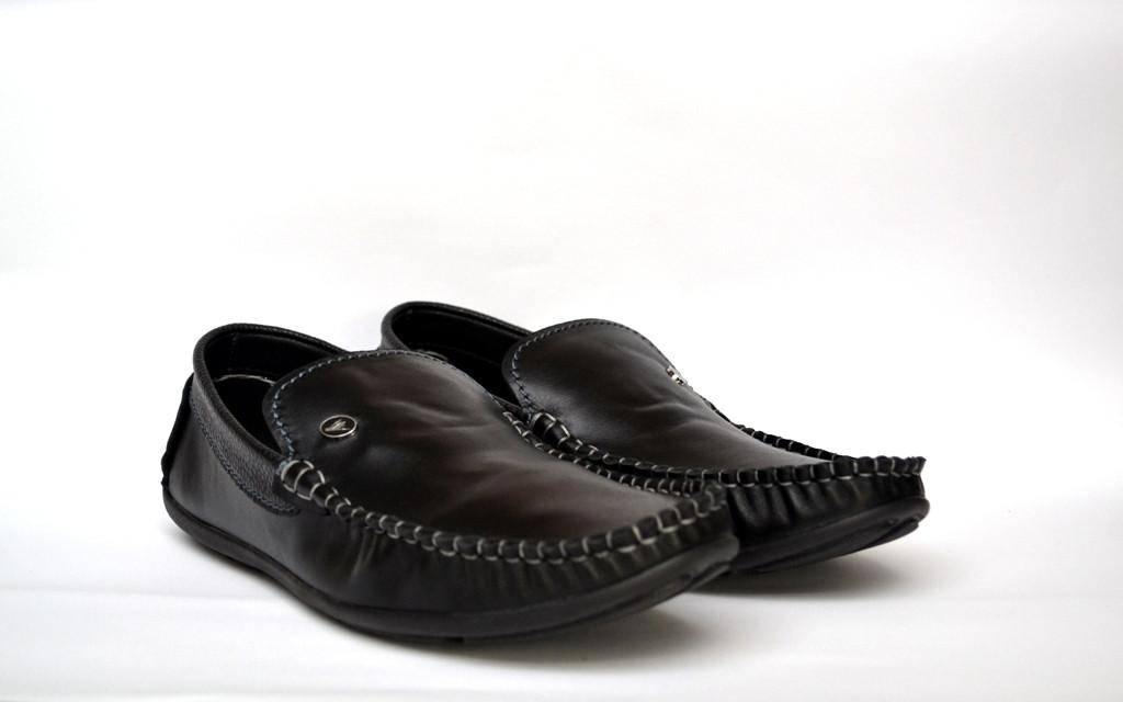 Обувь больших размеров кожаные мокасины мужские черные стильные Rosso Avangard BS Guerin M4 Pelle liscia nera