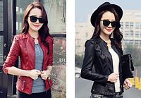 Жіноча шкіряна куртка. Модель 2041, фото 3