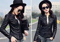 Жіноча шкіряна куртка. Модель 2041, фото 2
