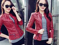 Жіноча шкіряна куртка. Модель 2041, фото 4