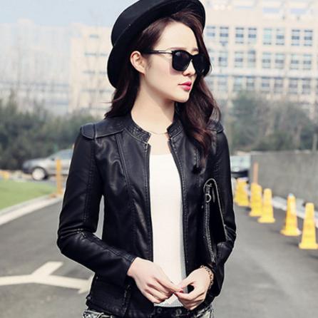 Жіноча шкіряна куртка. Модель 2041