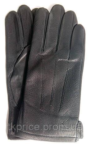 Мужские кожаные перчатки из оленьей кожи с шерстяной подкладкой, фото 2