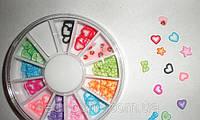 Фимо сердечки для дизайна ногтей-120шт., фото 1