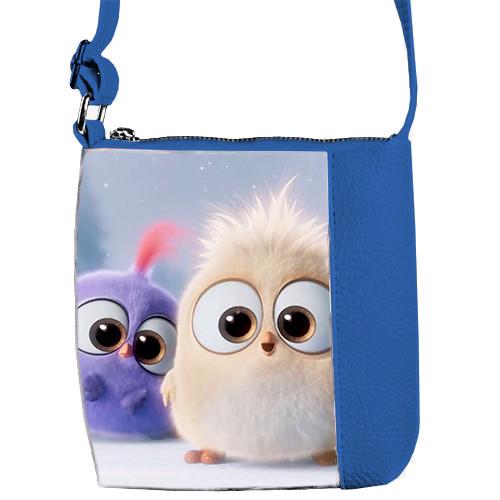 Сумка детская Mini Miss синяя с рисунком Angry Birds (55009)