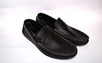 Мокасины больших размеров мужские кожаные черные натуральные Rosso Avangard BS Guerin M4 Pelle Bolla, nero, фото 1