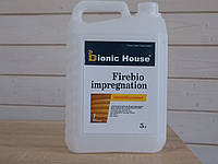 Огне био защитная пропитка для дерева Bionic House антипирен 1-я группа эффективности ГОСТ 12.1.044-89 5л
