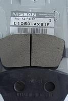 Колодки тормозные  Nissan MICRA оригинальный номер D1060AX61A