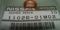 Прокладка масляной пробки поддона Nissan на все модели Nissan1102601m02