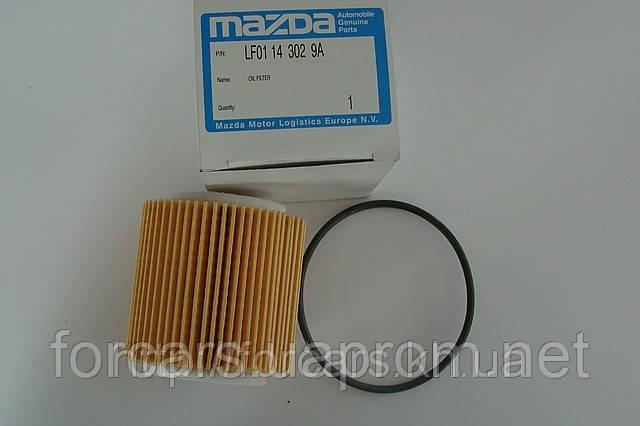 Масляный фильтр MAZDA CX-7 Mazda 3 Mazda 6 оригинальный номер LF0114302, фото 1