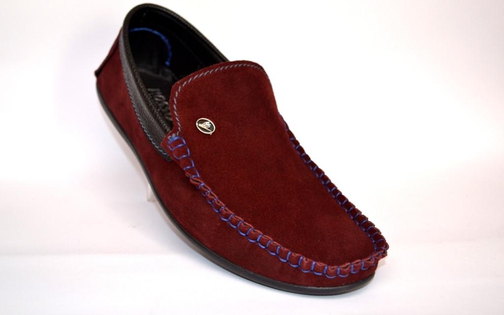 Обувь больших размеров мужская мокасины замшевые бордовые летние Rosso Avangard Guerin BS Bordeaux Suede